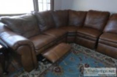 LA-Z-BOY L SHAPED SOFA WITH RECLINERS