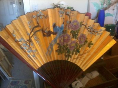 Japanese Wall Fan Colourful !