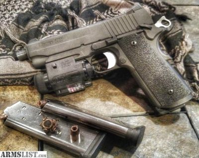 For Sale/Trade: Sig 1911 tacops threaded barrel night sights 4 mags and case