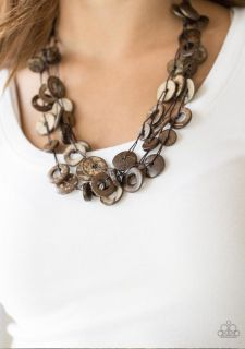 Beautiful Wood Brown Necklace