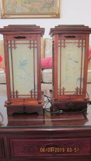 Table Lamp - 1 pair - Asian inspired