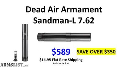 For Sale: Dead Air Sandman-L 7.62 With Brake $