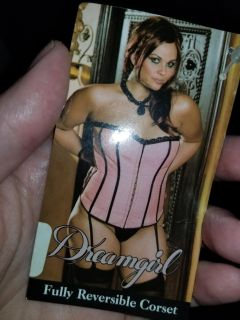 size 40 corset. New black and pink