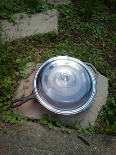 """12"""" Lodge Cast Iron Skillet with Lid"""