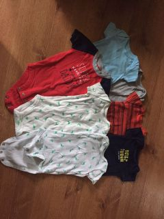 Lot of 7 boys 6 month onesies by Carter s