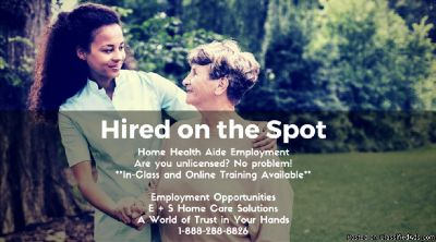 Hired on the Spot! Home Health Aide Employment