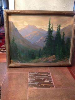 Original David Stirling Oil Painting 1937
