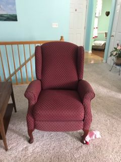 Just MARKED DOWN!!! maroon sofa chairs that recline