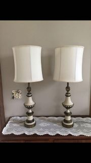 Vintage tall lamps
