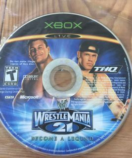 WRESTLE MANIA 21 Xbox Game