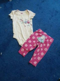 Size 3 Months Gently Used Owl Outfit