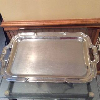 Vintage Stainless Steel Serving Trays--high gloss