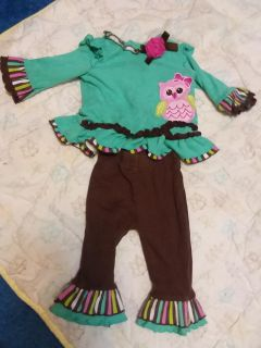 Size 6 Month Adorable Owl Outfit