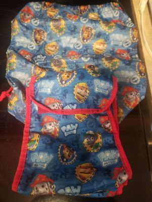 Paw Patrol Drawstring Backpack & Lunch Bag