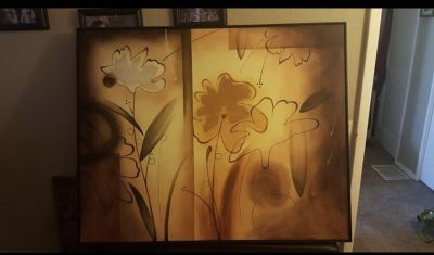 Beautiful Artwork signed by artist 50 x 60 cross posted
