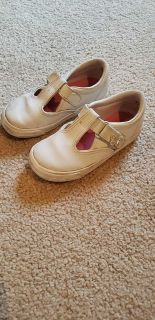 Keds white T-strap tennis shoes