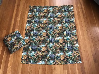 Wild Africa Curtains. EUC. 6 panels 40 across 52 length See addl pics for closeup