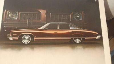 Find DEALER PROMO PICTURE 1973 PONTIAC LUXURY LEMANS 4-DOOR COLONNADE HARDTOP motorcycle in Oxford, Pennsylvania, United States, for US $9.95