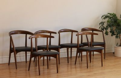 Set of 6 MidCentury Lawrence Peabody Dining Chairs