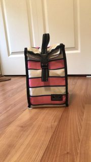 Scout pink/blue lunch tote