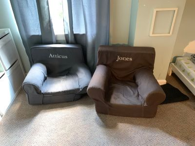 2 Pottery Barn Anywhere chairs