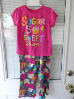 SIZE 5 ''CUPCAKES'' PAJAMAS (BOTTOMS ARE SILKY & TOP IS COTTON