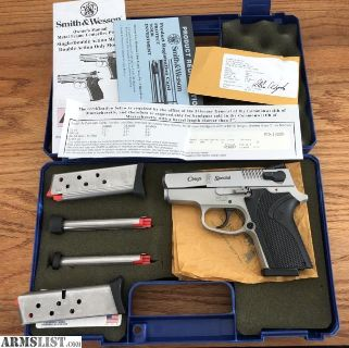 For Sale: S&W MODEL CS 9 CHIEF SPECIAL LIKE NEW IN BOX.