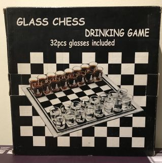 Glass Chess Drinking game