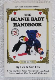 The Beanie Baby Handbook 1998 Edition by Les & Sue Fox Collectors Guide