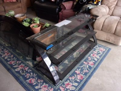 Three Tier Glass Television Shelf
