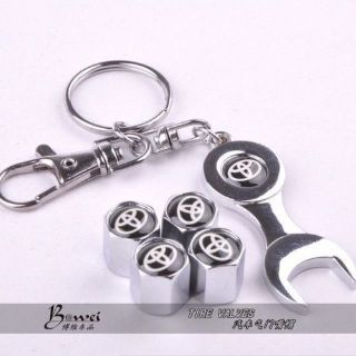 Purchase Toyota Car Wheel Tire Valve Caps with Mini Wrench & Keychain for motorcycle in Hyannis, Massachusetts, United States, for US $11.49
