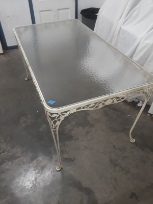 Beautiful vintage wrought iron outdoor table
