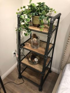 Industrial style shelf $95