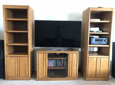 Entertainment Center Shelving and TV Stand