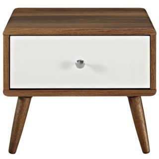 New Walnut Nightstand Side Table Includ FedEx Ship