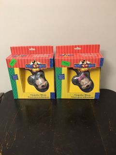 Set of 2 VTG Mickey and Minnie Mouse Computer Mouse