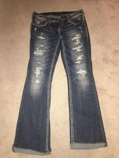 Womens silver jeans basically BN size 29/33