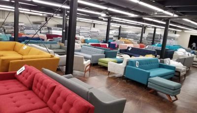 LIQUIDATION STARTS NOW!!! Mid-century modern sofas, chairs, sectionals and ottomans