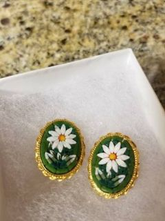New clip on Mosaic style earrings from the Smithsonian