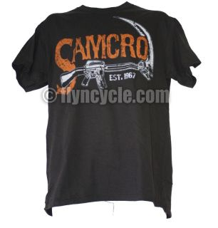 Buy Sons of Anarchy Samcro SOA Vintage Sickle 2-Sided T-shirt Tee Shirt motorcycle in Ashton, Illinois, US, for US $20.49