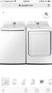 Like New Samsung Washer & Dryer