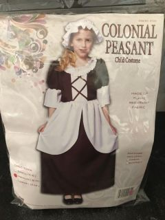 Girls Colonial Peasant costume size 8-10