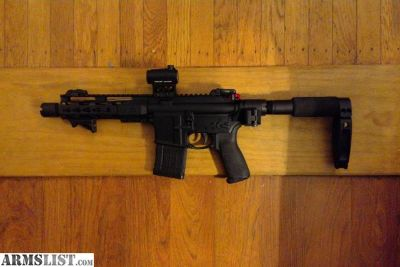 For Sale: Custom AR Pistol 300 Blackout w/ Law folding stock