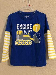 Blue And Yellow Engine Long Sleeve Shirt. Like Perfect Condition. Size 3T