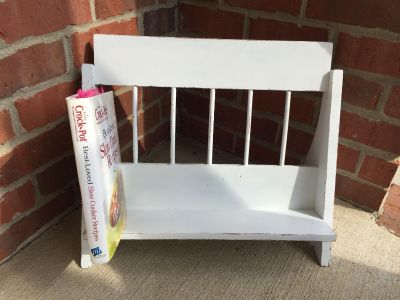 Distressed Painted Book Stand
