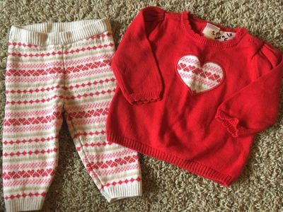 Gymboree 3 to 6 month sweater and pants, very cute on!
