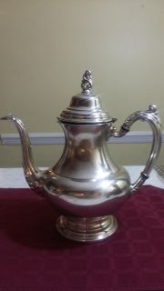 Vintage Oneida Coffee Pot Silver Plated