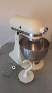 Kitchen aid mixer with two attachments works great