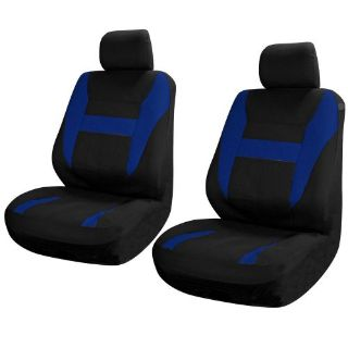 Sell SUV Van Truck Seat Covers for Front Bucket Seats Black / Blue 6pc w/Head Rest motorcycle in Van Nuys, California, United States, for US $15.67