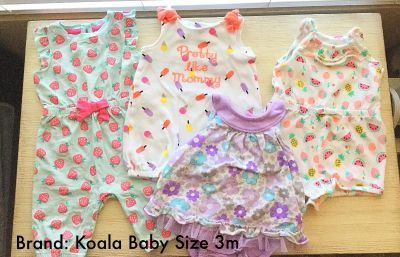 4 baby girl outfits 3m